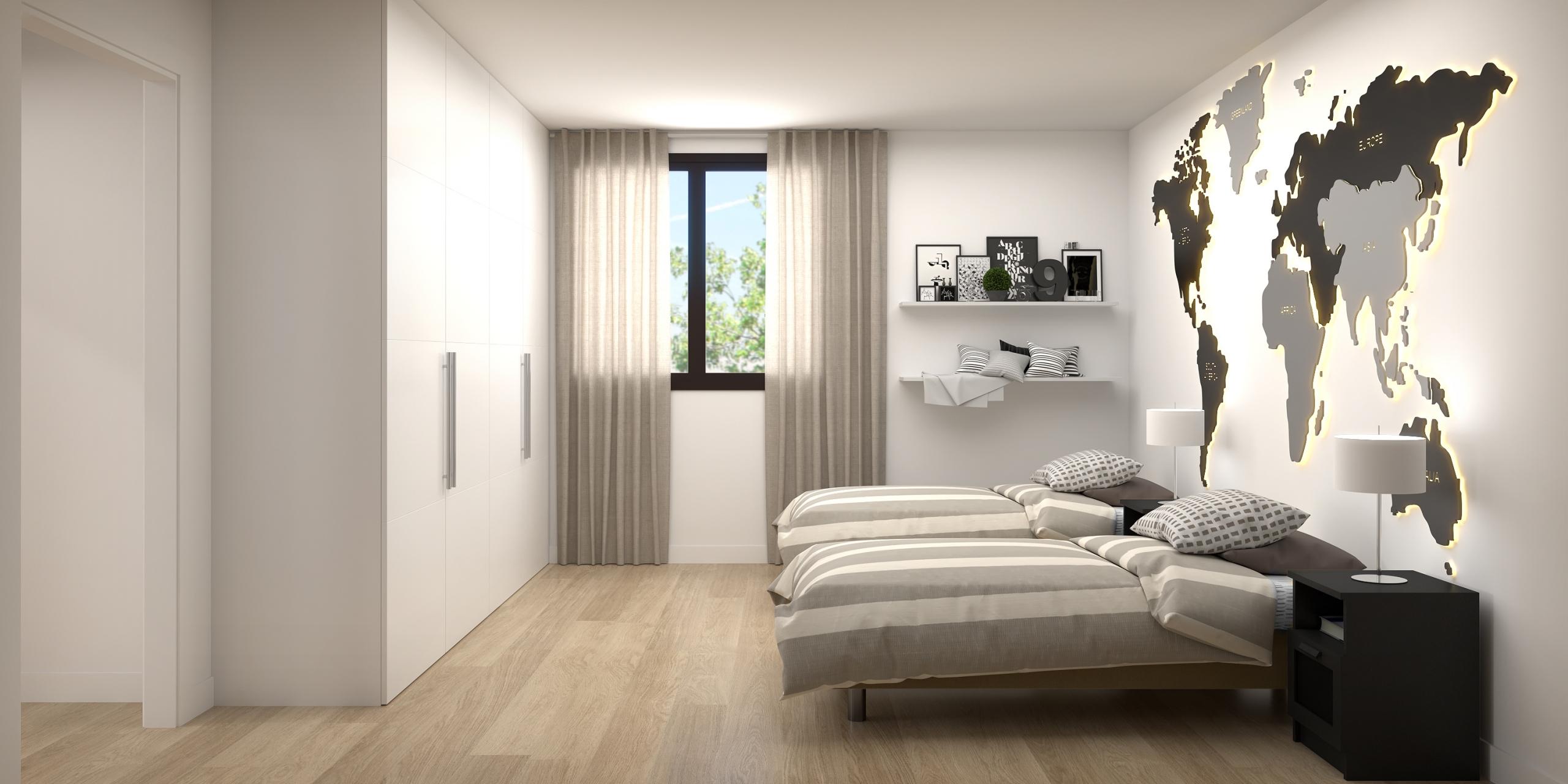 Render Habitació - Casa Poble de Pals